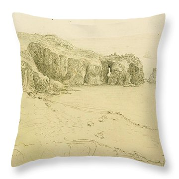 Pele Point, Land's End Throw Pillow by Samuel Palmer