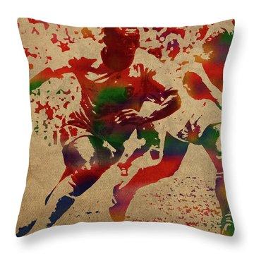 Pele Watercolor Portrait Throw Pillow