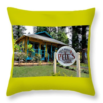 Pele's Lanai Style Throw Pillow by DJ Florek