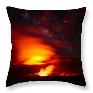 Pele's Mouth Throw Pillow
