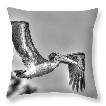 Pelican-4443 Bnw Throw Pillow