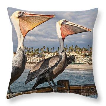 Pelican - A Happy Landing Throw Pillow