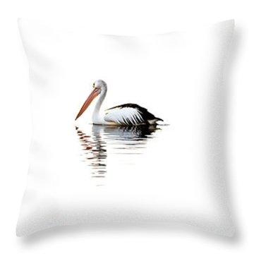 Pelican Adrift Throw Pillow