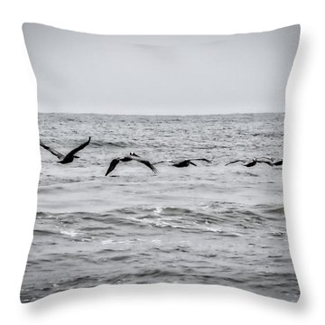 Pelican Black And White Throw Pillow