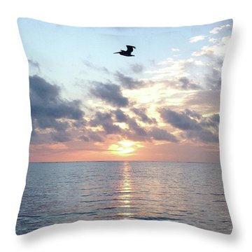 Pelican Dawn Throw Pillow