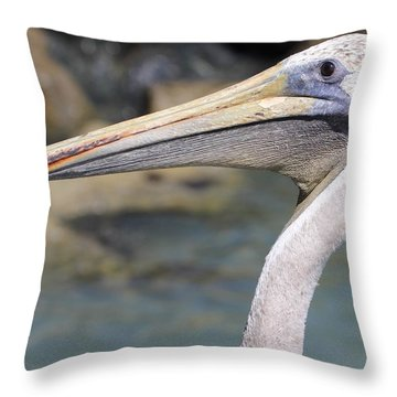 Pelican Face  That Only A Mother Could Love Throw Pillow