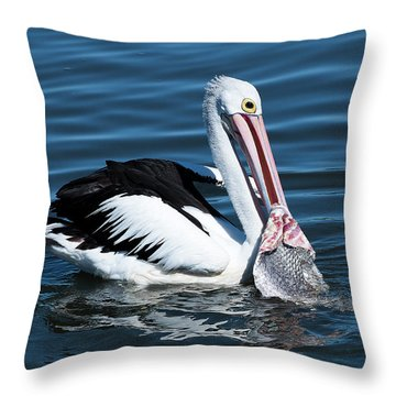 Pelican Fishing 6661 Throw Pillow by Kevin Chippindall