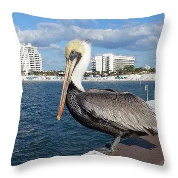 Pelican -florida Throw Pillow