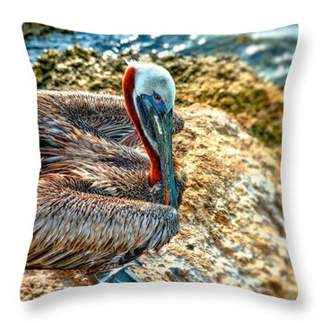 Pelican II Throw Pillow