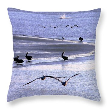 Pelican Island Throw Pillow by Al Powell Photography USA