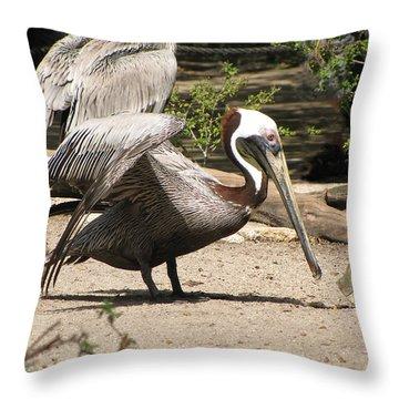 Pelican Island Throw Pillow