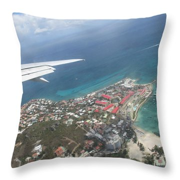 Pelican Key St Maarten Throw Pillow