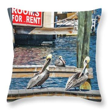 Throw Pillow featuring the photograph Pelican Motel by Bob Slitzan