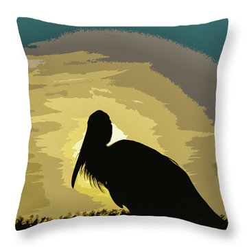 Pelican Paint Throw Pillow