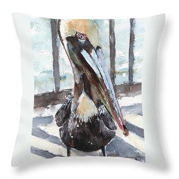 Pelican Pose 4 Throw Pillow