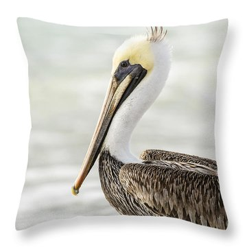 Pelican Pose Throw Pillow