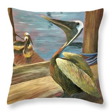 Pelican Pride Throw Pillow