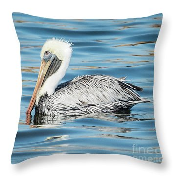 Pelican Relaxing Throw Pillow