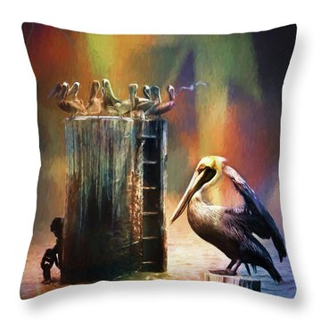 Pelican Ways Throw Pillow