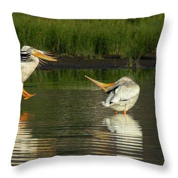 Pelicans 2 Throw Pillow