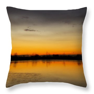 Pella Ponds  December 16th Sunrise Throw Pillow by James BO  Insogna