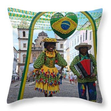 Pelourinho - Historic Center Of Salvador Bahia Throw Pillow