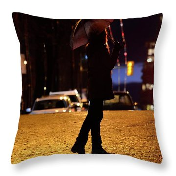 Pelted With Shine Throw Pillow