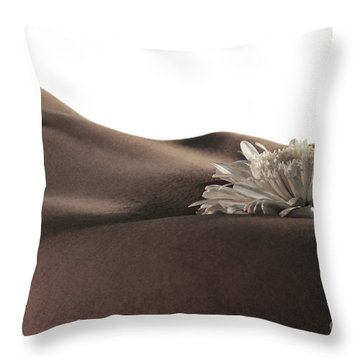 Pelvis Petals Throw Pillow by Robert WK Clark