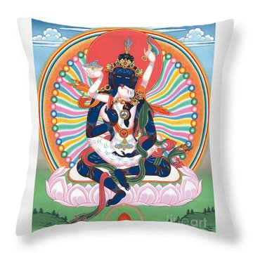 Pema Heruka Guhya Jnana Dakini Throw Pillow
