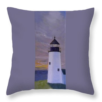 Pemaquid Light Morning Light Throw Pillow