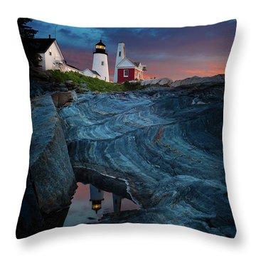 Pemaquid Lighthouse At Dawn Throw Pillow