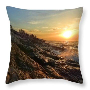 Pemaquid Lighthouse Throw Pillow