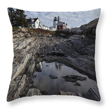 Pemaquid Lighthouse Throw Pillow