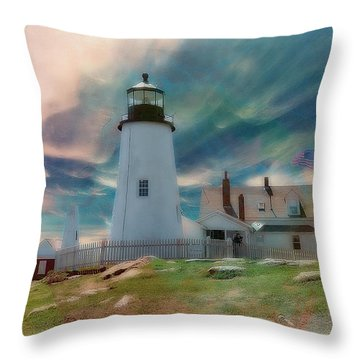 Pemaquid Lighthouse,maine Throw Pillow