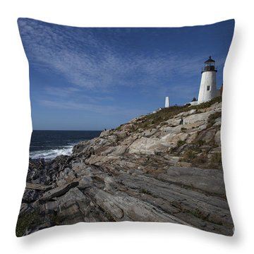 Pemaquid Lightouse Throw Pillow