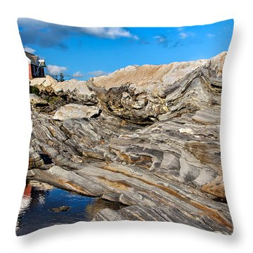 Pemaquid Point  Throw Pillow