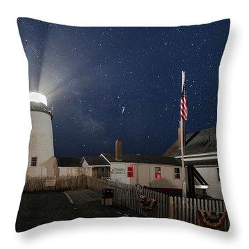 Pemaquid Point Light Flare Throw Pillow