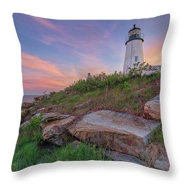 Pemaquid Point Sunset Throw Pillow
