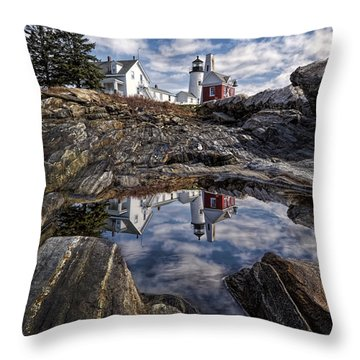 Throw Pillow featuring the photograph Pemaquid Reflected by Jaki Miller