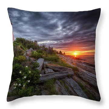Pemaquid Sunrise Throw Pillow