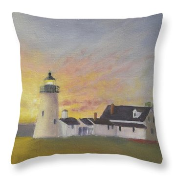 Pemaquid's First Light Throw Pillow