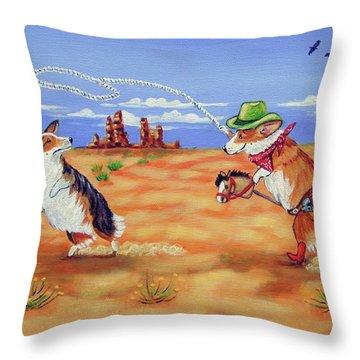 Pembroke Welsh Corgi Opie Gets A Date Throw Pillow