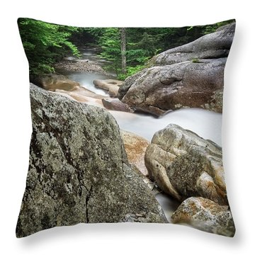 Throw Pillow featuring the photograph Pemi Above Basin by Michael Hubley