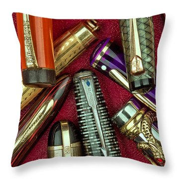 Pen Caps Still Life Throw Pillow