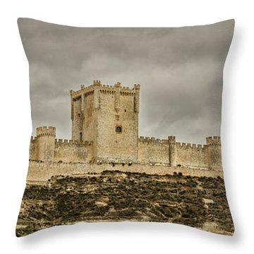 Penafiel Castle, Spain. Throw Pillow