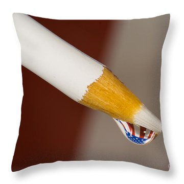 Pencil Flag Drop Throw Pillow