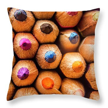 Pencil Pointers Throw Pillow