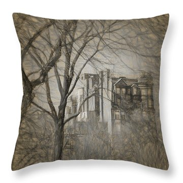 Pencil Sketch Of Beacon Hill Throw Pillow