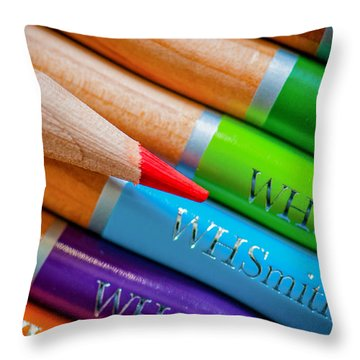 Pencils 3 Throw Pillow