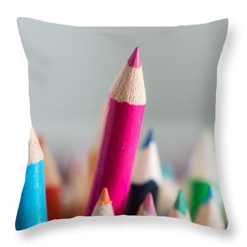 Pencils 4 Throw Pillow